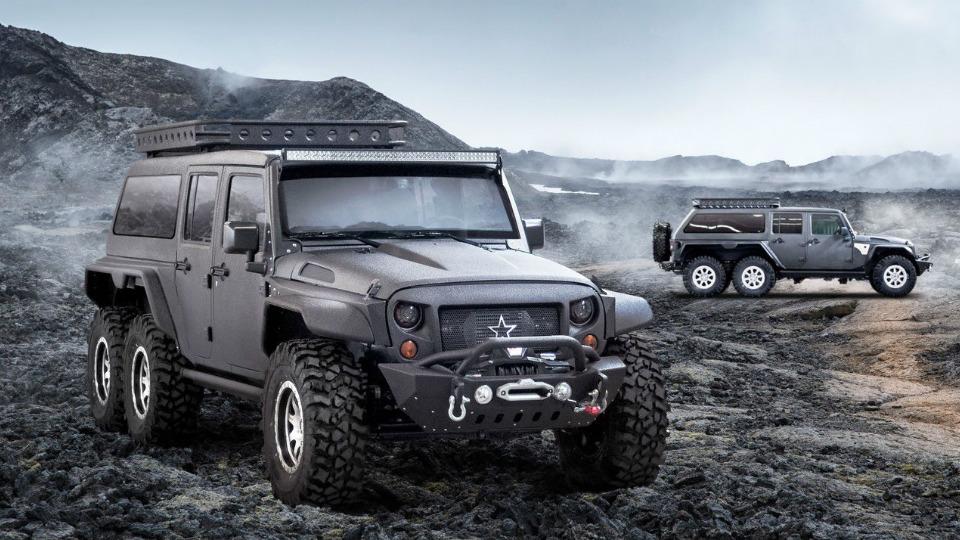 Китайцы создали шестиколесного монстра набазе Jeep Wrangler