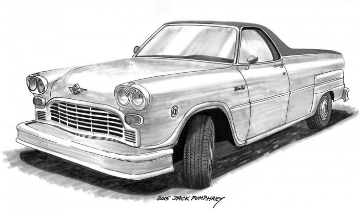 Эскиз второй модели Checker Motor Cars