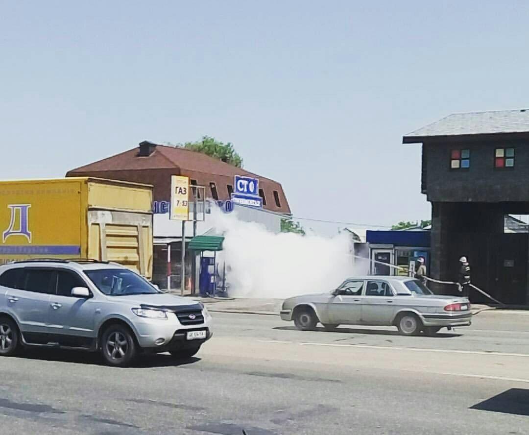 В Киеве на Окружной произошла утечка газа на АГЗС