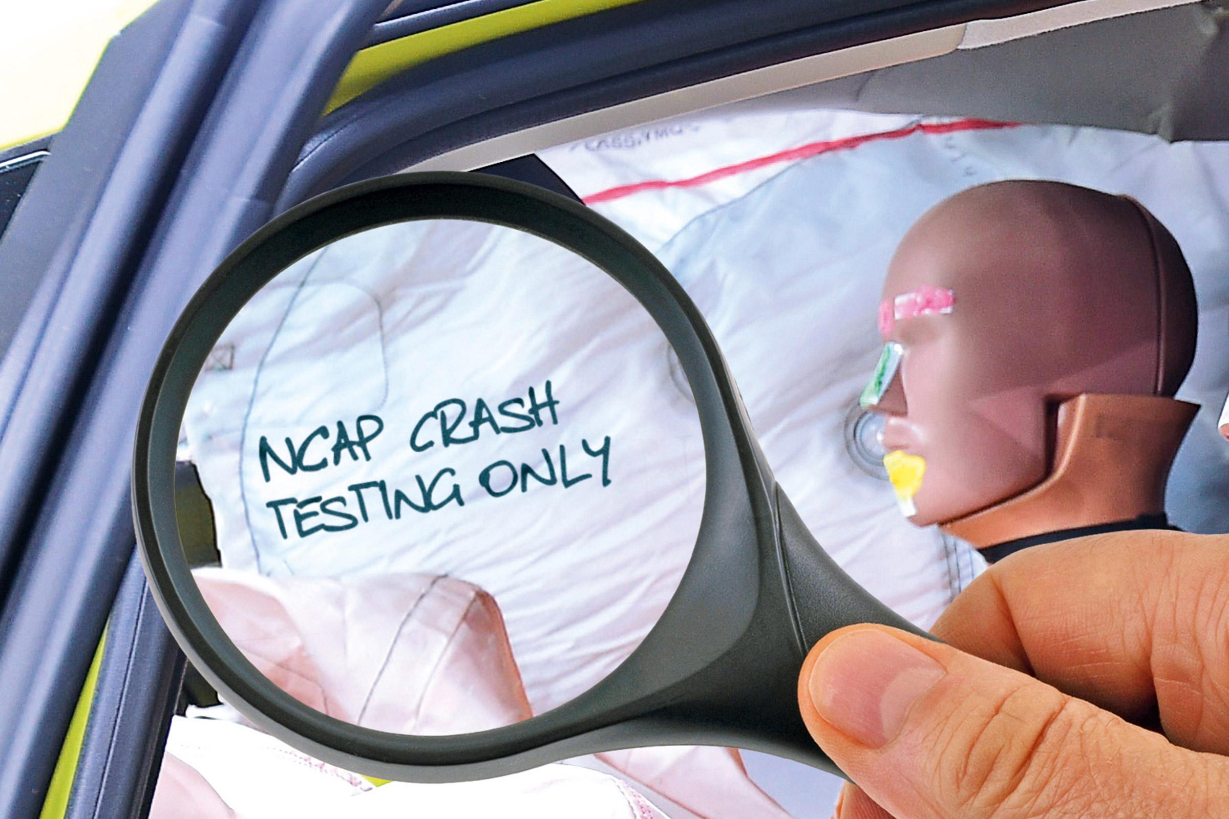 В машинах для краш-тестов обнаружили детали с подозрительными метками «Euro NCAP only»