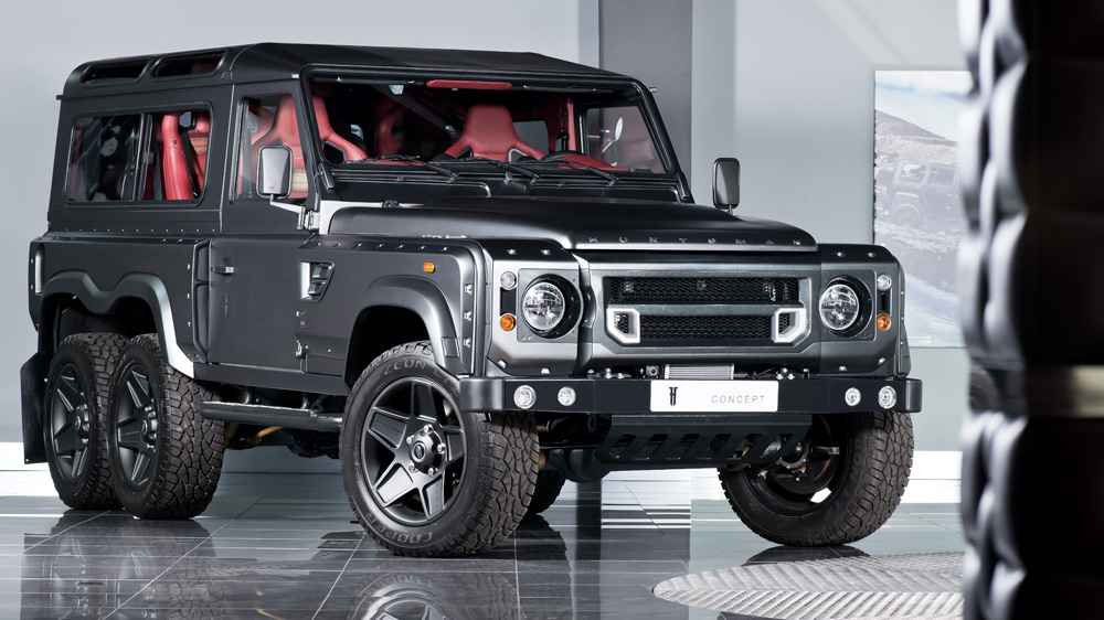 Британцы назвали стоимость шестиколёсного Land Rover Defender