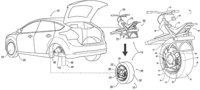 Ford запатентовал колесо-трансформер
