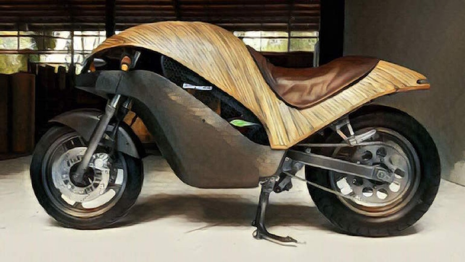 Филиппинцы построили электрический мотоцикл из бамбука
