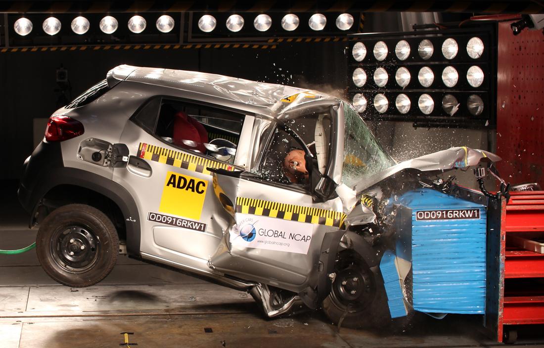 Пять автомобилей получили ноль звёзд в краш-тестах Global NCAP