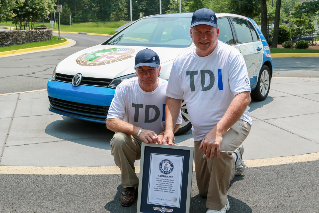 VW Golf record