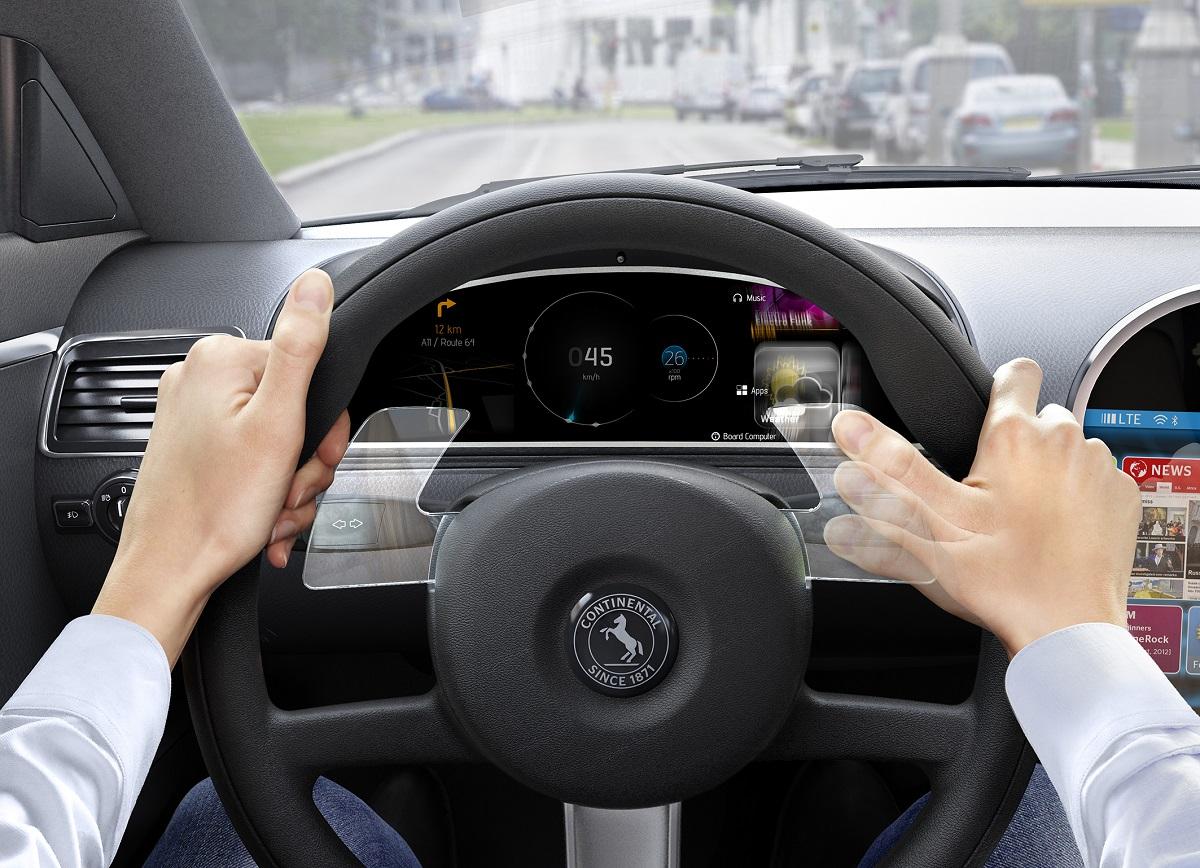 Continental создала подрулевые переключатели с управлением жестами