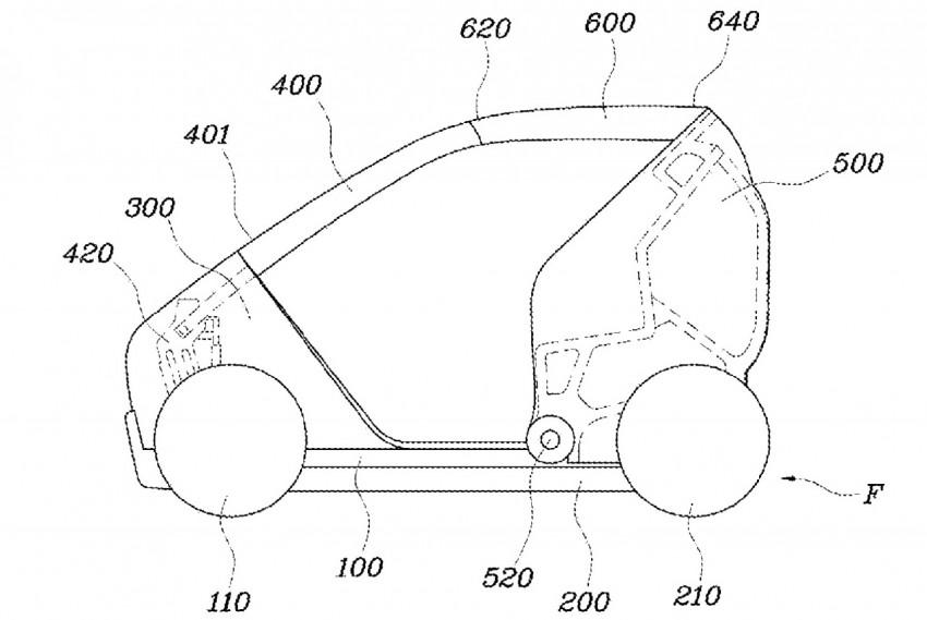 Hyundai оформила патент на складной ситикар
