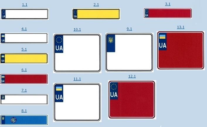 Новые номерные знаки Украины