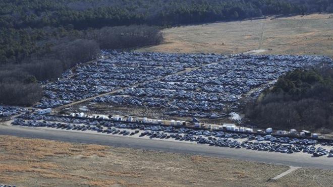 Утопленные машины в США