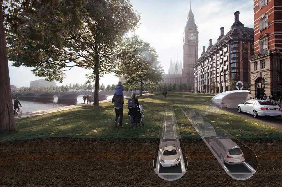 Британский CarTube отправил электрокары под землю