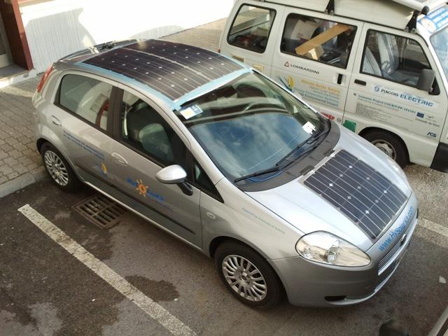 Итальянцы сделали из Fiat Punto гибрид на солнечных батареях