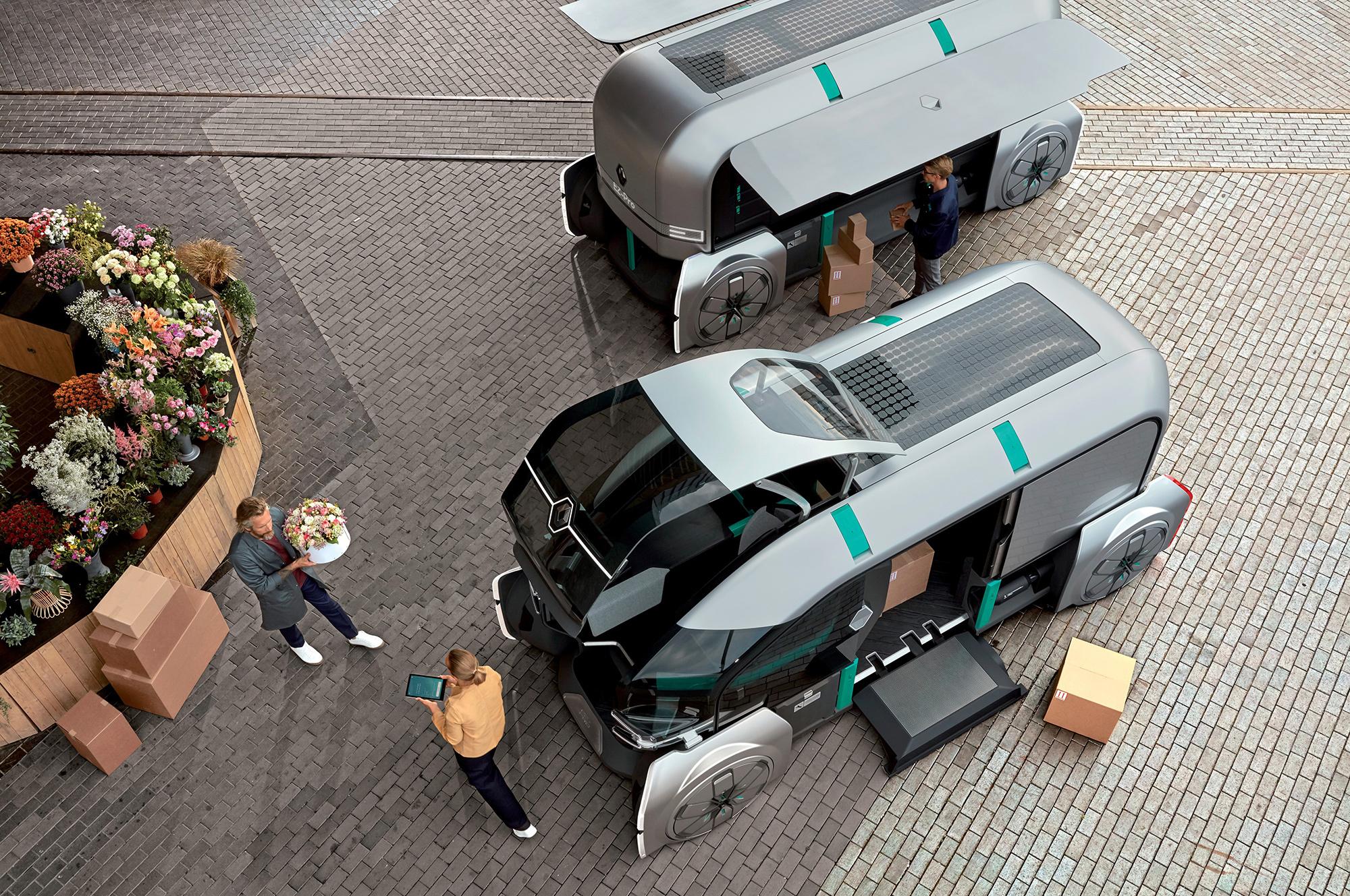 Renault представила роботизированный фургон для доставки товаров