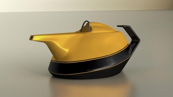 Renault оригинально отметила 40-летний юбилей в F1, выпустив чайник