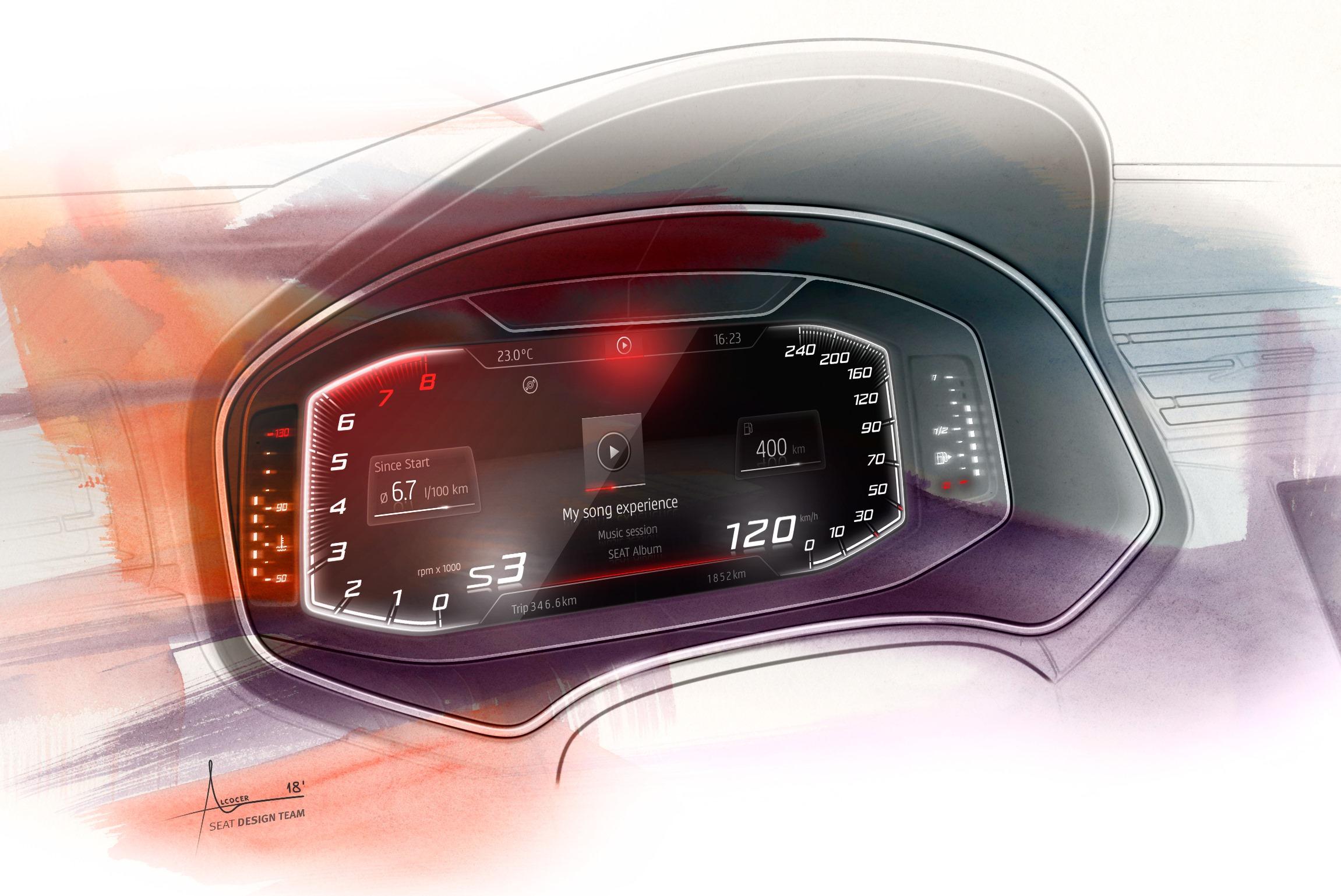 У автомобилей Seat Arona и Ibiza появится цифровая приборная панель