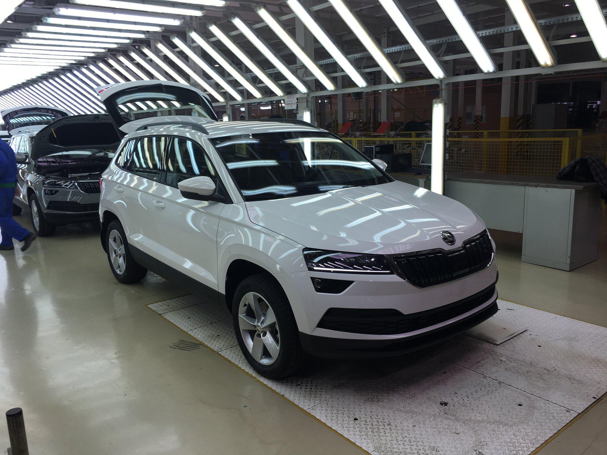 Кроссовер Škoda Karoq начали собирать на «Еврокаре»
