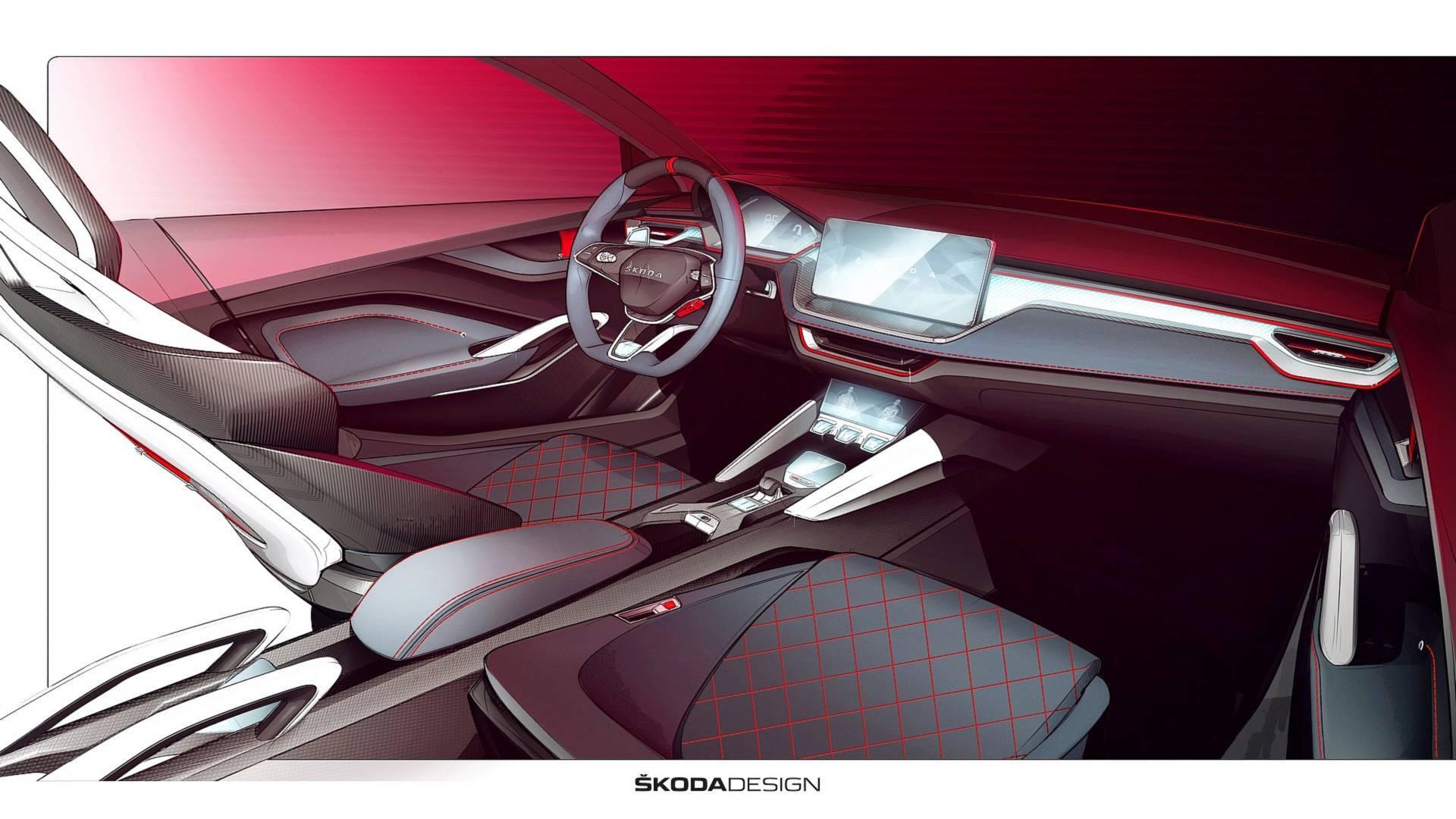 Škoda показала салон концепт-кара Vision RS