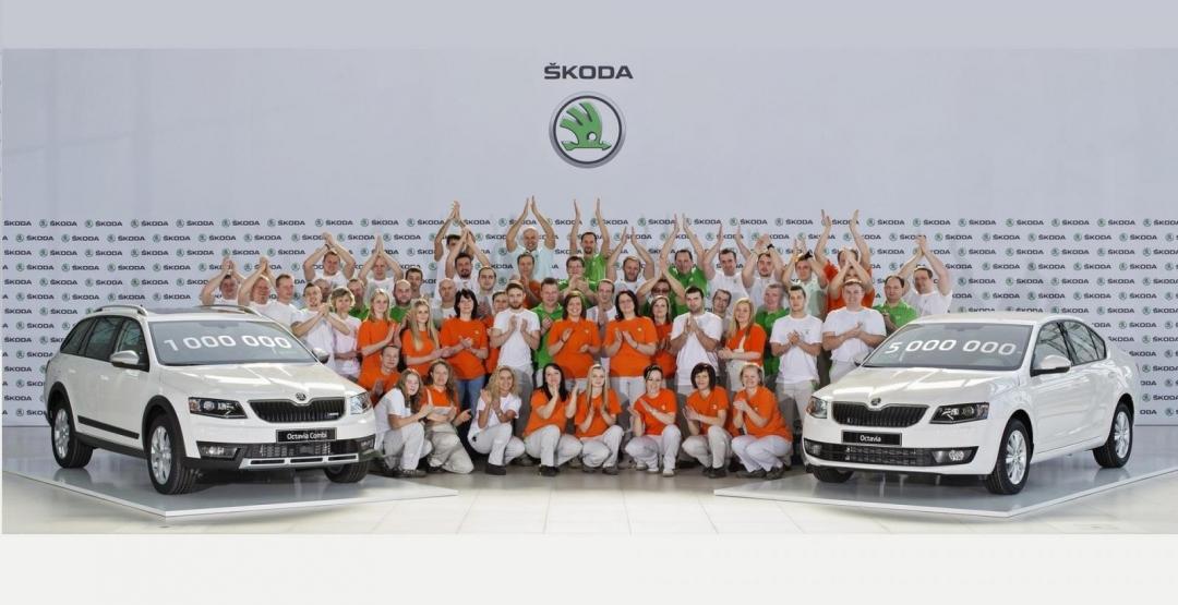 Škoda выпустила миллионную Octavia третьего поколения