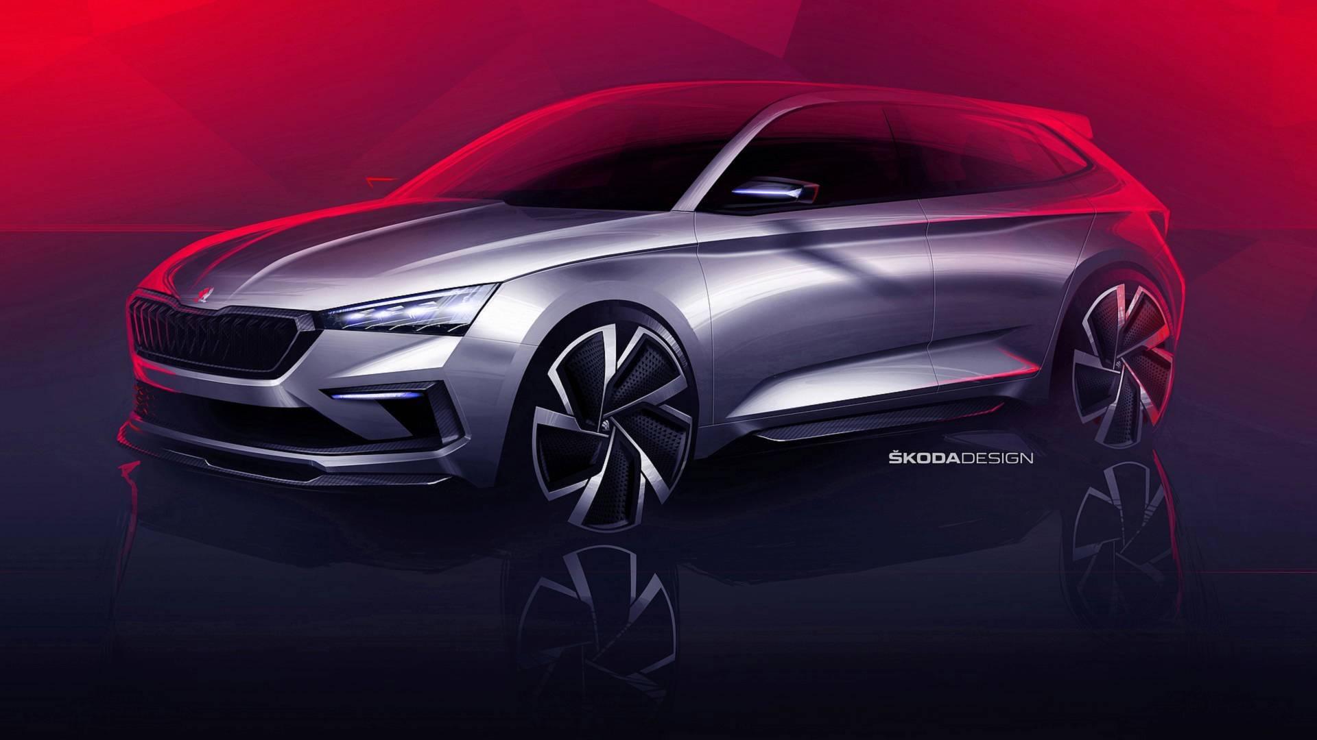 Škoda опубликовала эскизы концепт-кара Vision RS
