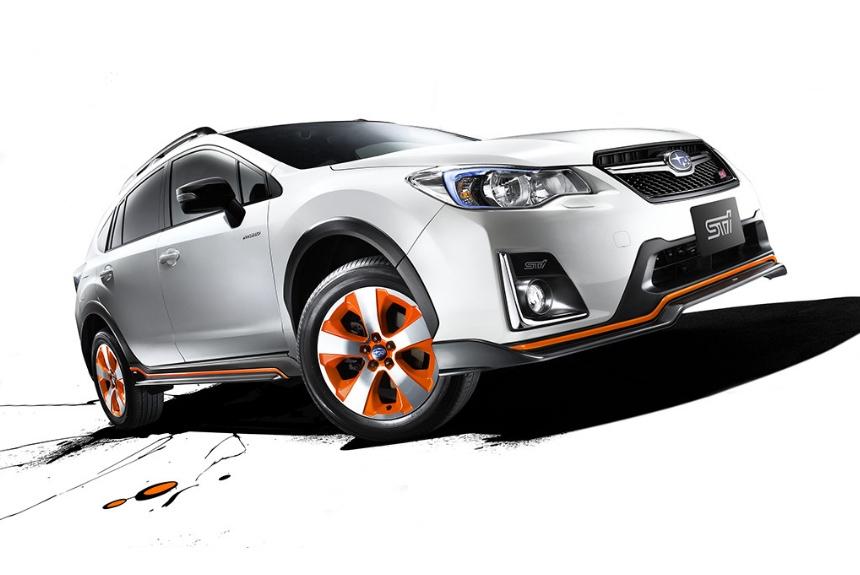 Обозначения STI впервые появились на гибридном Subaru