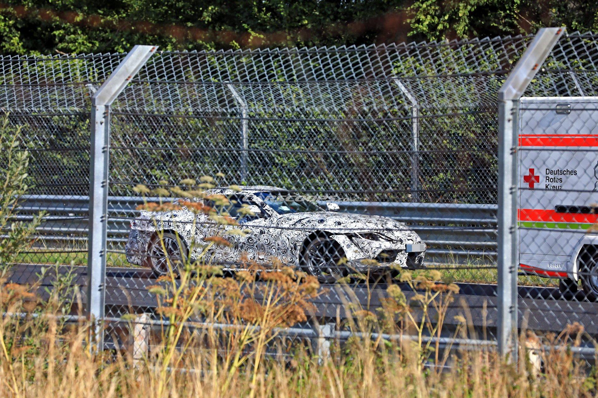 Прототип новой Toyota Supra попал в аварию на Нюрбургринге