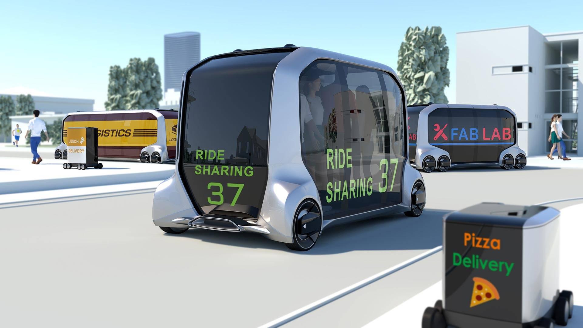 Toyota представила беспилотную мобильную платформу e-Palette