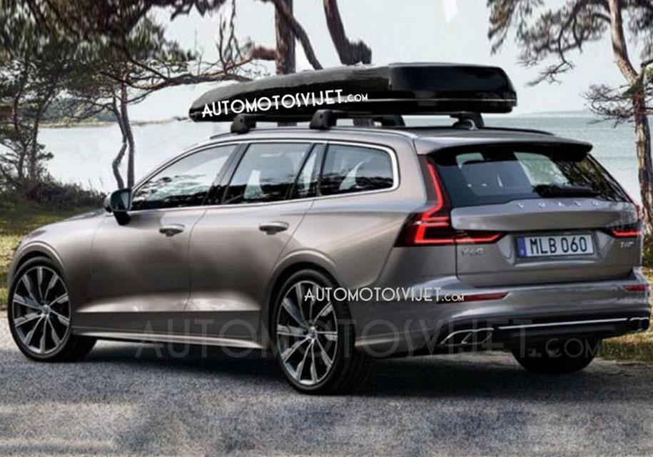 Универсал Volvo V60 нового поколения показали на видео