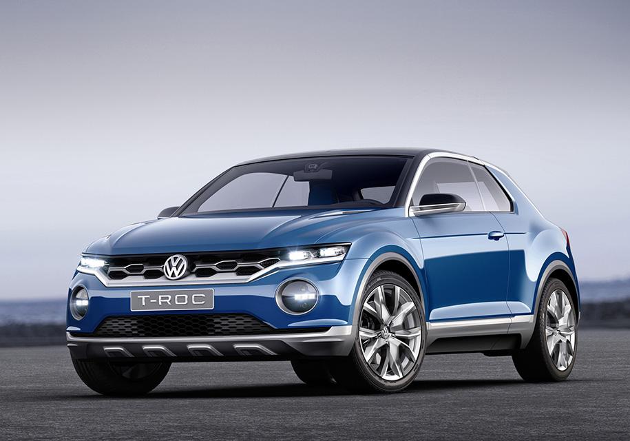 Volkswagen анонсировал премьеру компактного кроссовера T-Roc