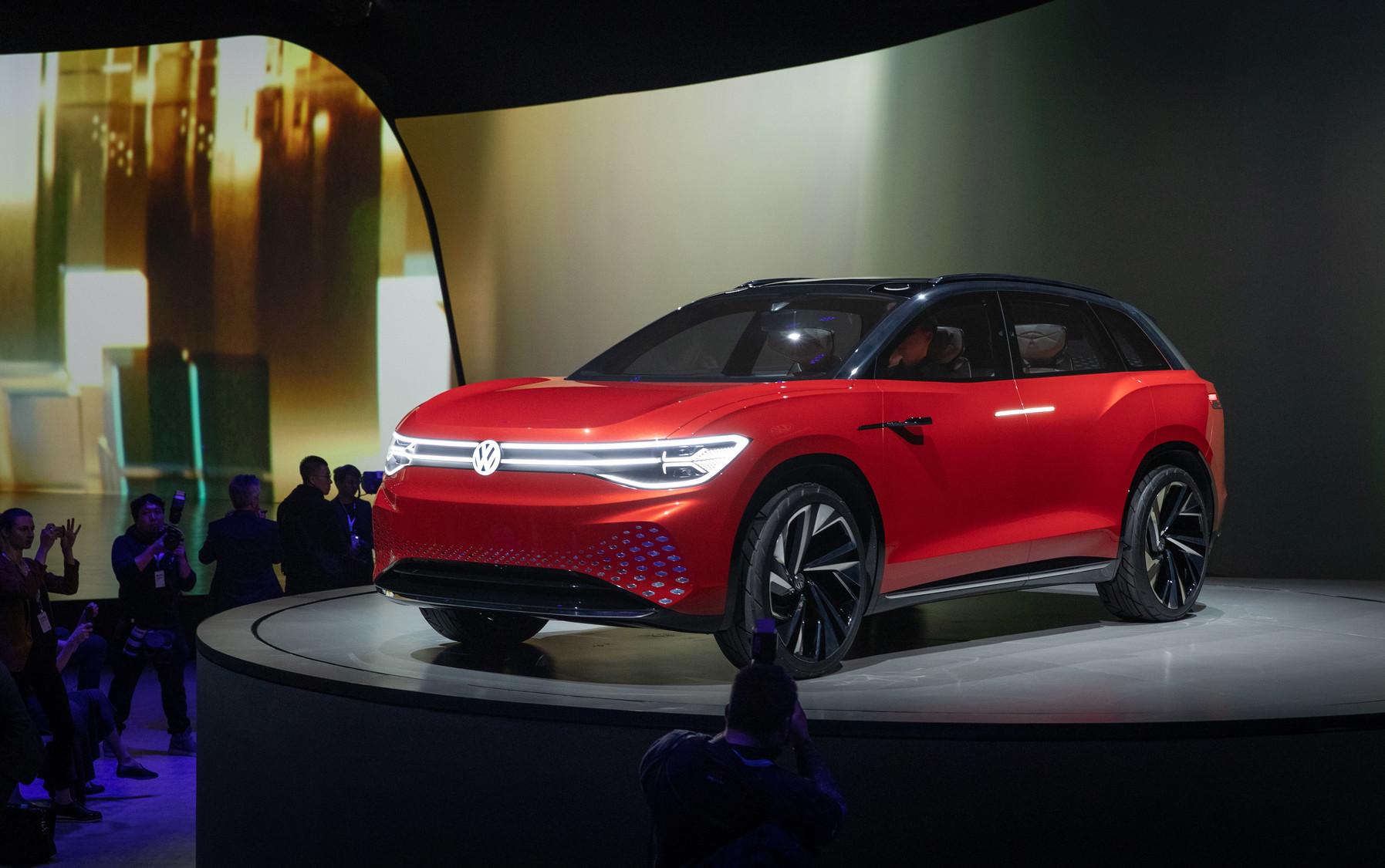 Volkswagen представил концептуальный электрический кроссовер ID. Roomzz