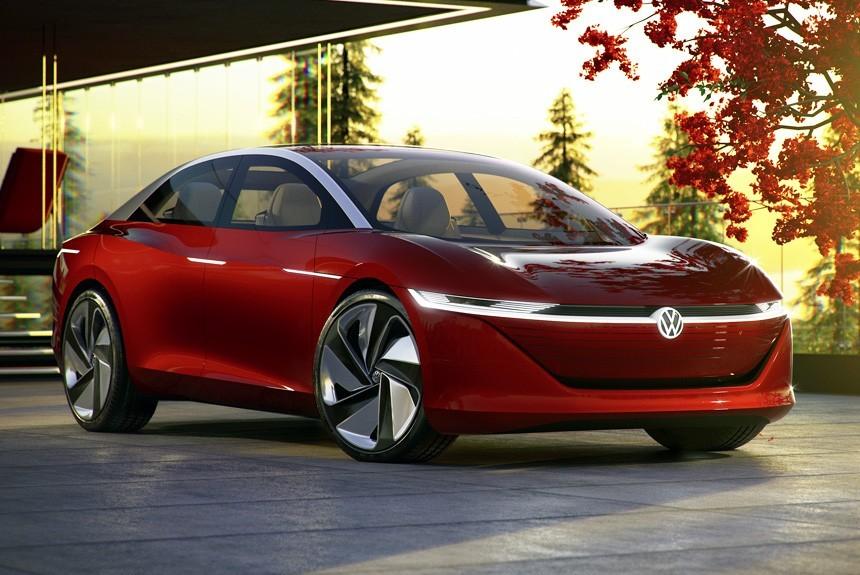 Женева 2018: Volkswagen показал электрический седан I.D. Vizzion
