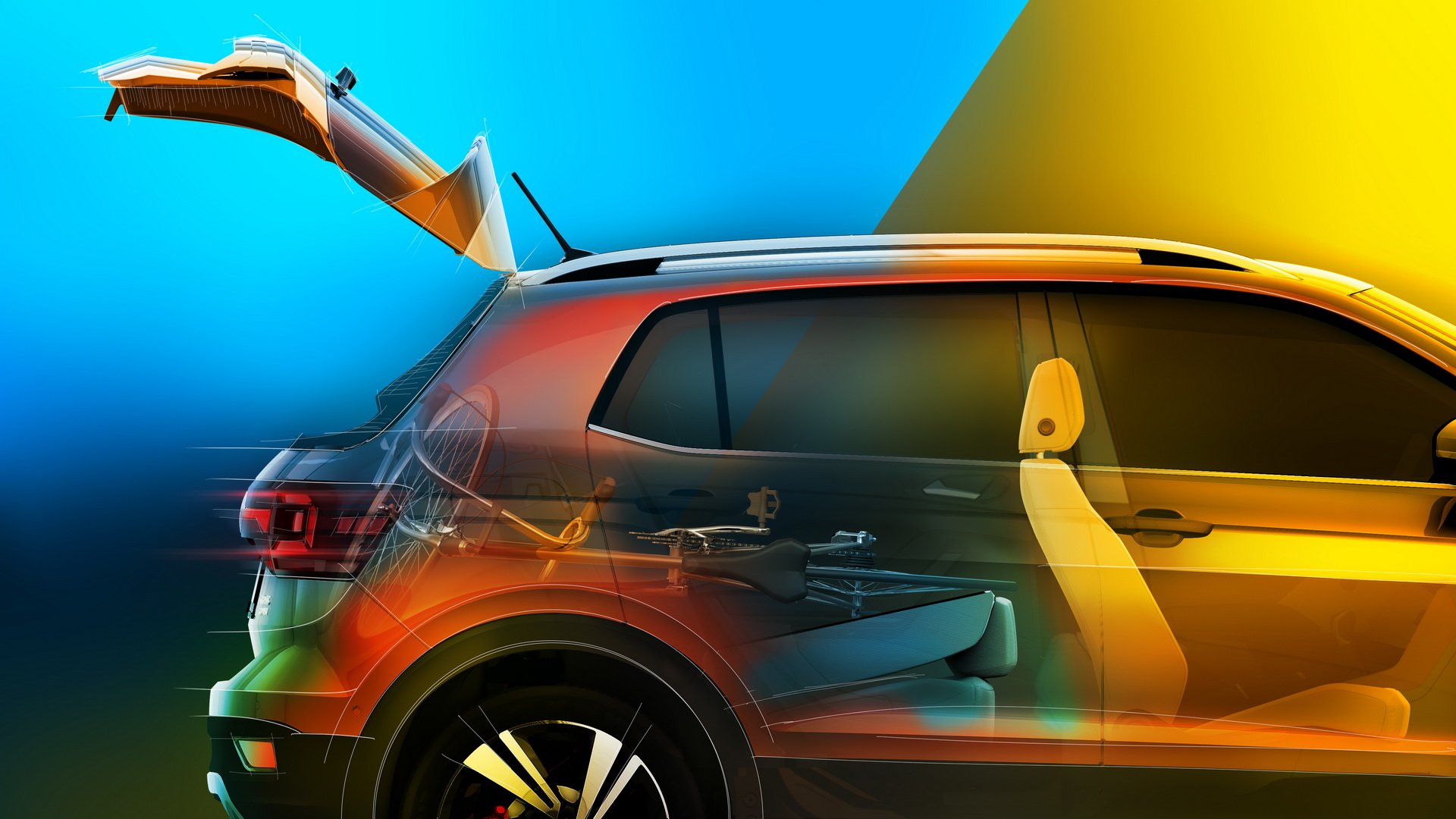 Volkswagen показал каким будет салон нового кроссовера T-Cross
