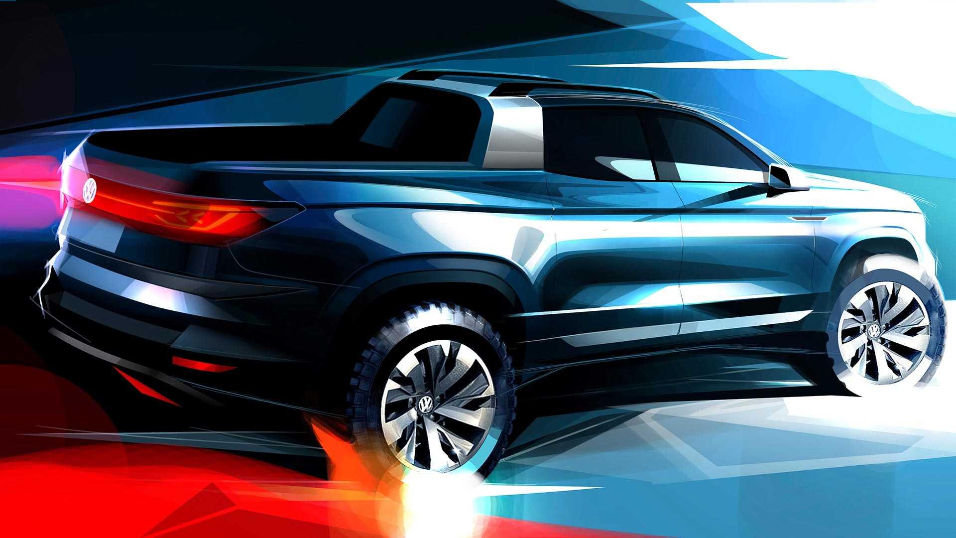 Volkswagen раскрыл дизайн маленького пикапа