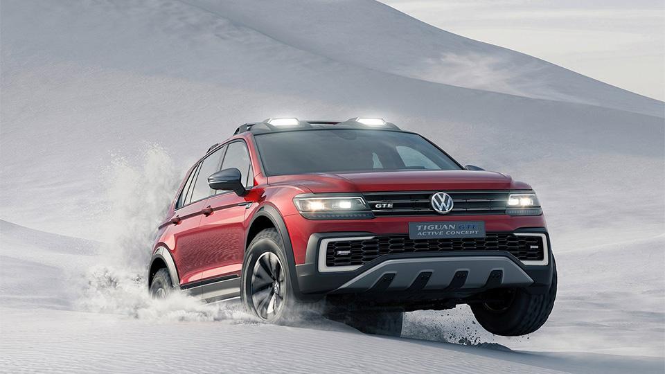 Volkswagen привёз в Детройт «внедорожный» гибрид Tiguan