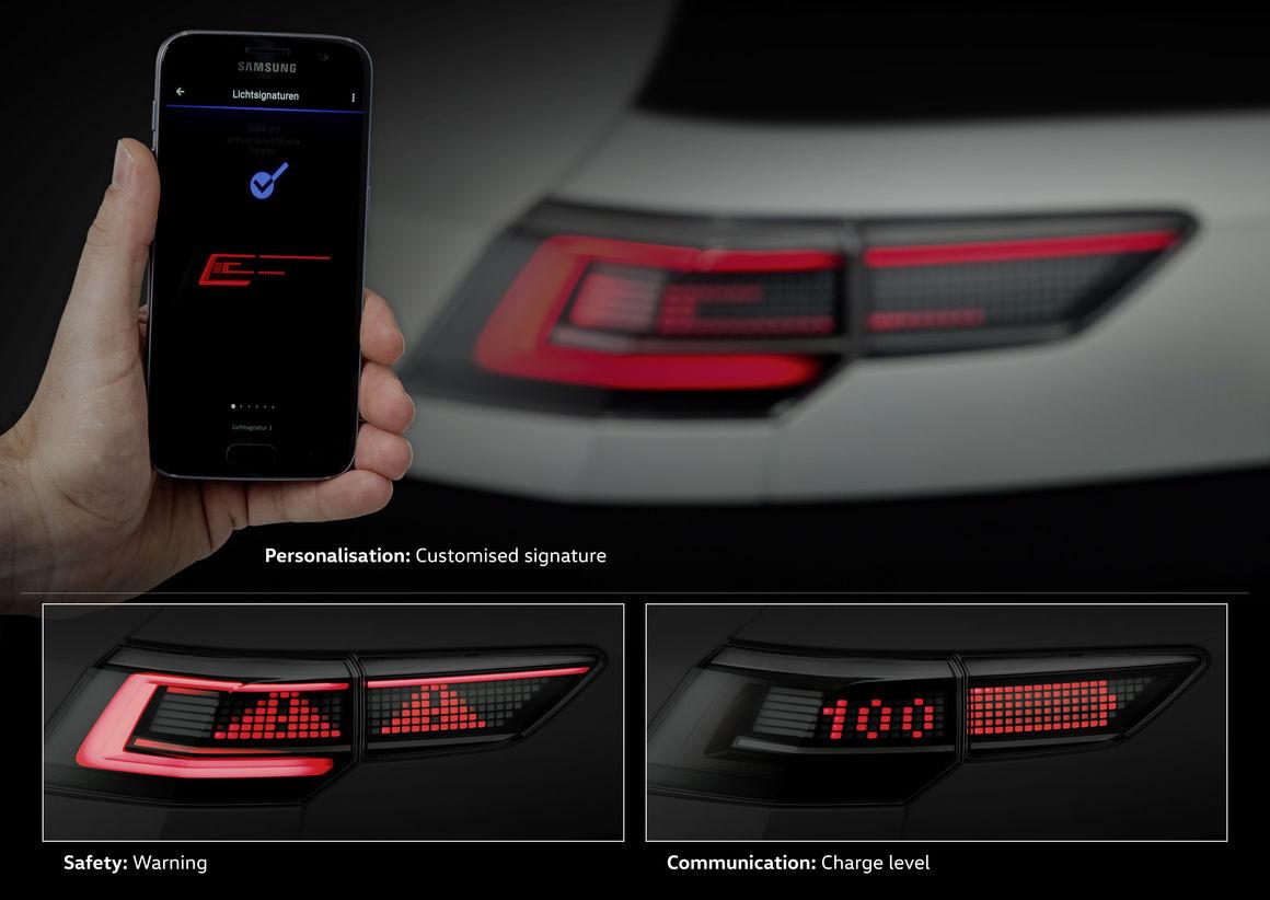 Volkswagen продемонстрировал работу светотехники будущего