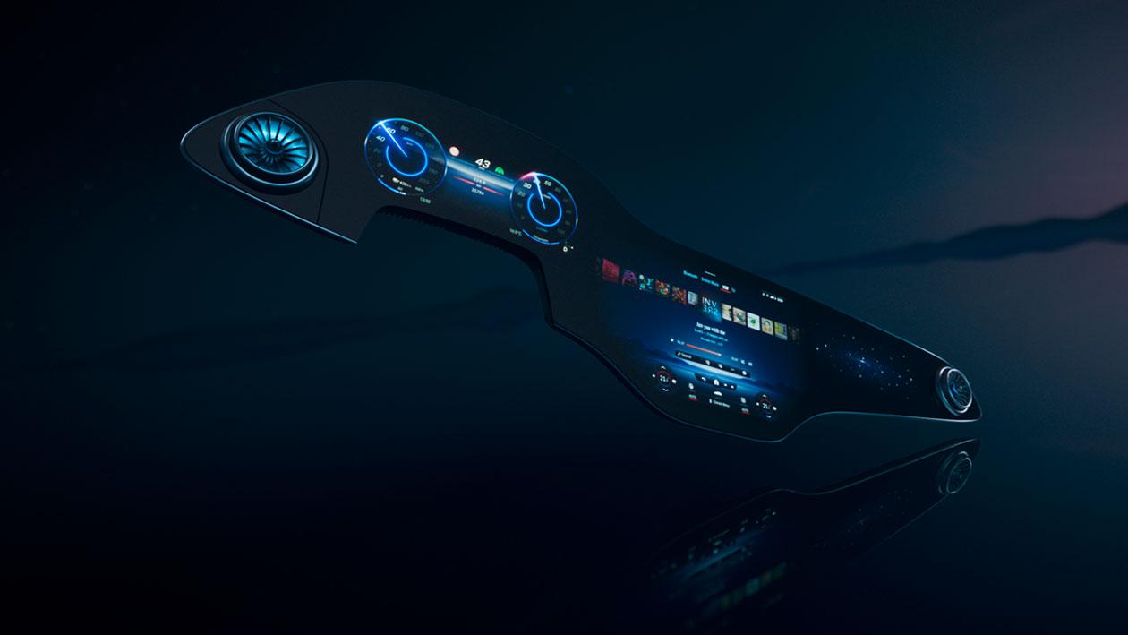 Mercedes-Benz показал «гиперэкран» шириной 141 см. Такой будет в электромобиле EQS